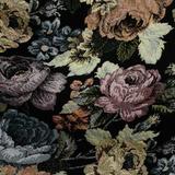 Тёмный жаккард с розами