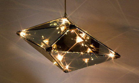 replica ROLL & HILL Maxhedron suspension lamp