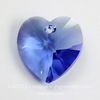 6202/6228 Подвеска Сваровски Сердечко Sapphire  (18х17,5 мм)