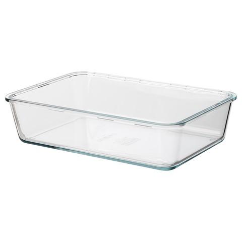ИКЕА/365+ Контейнер для продуктов большой прямоугольн формы, стекло