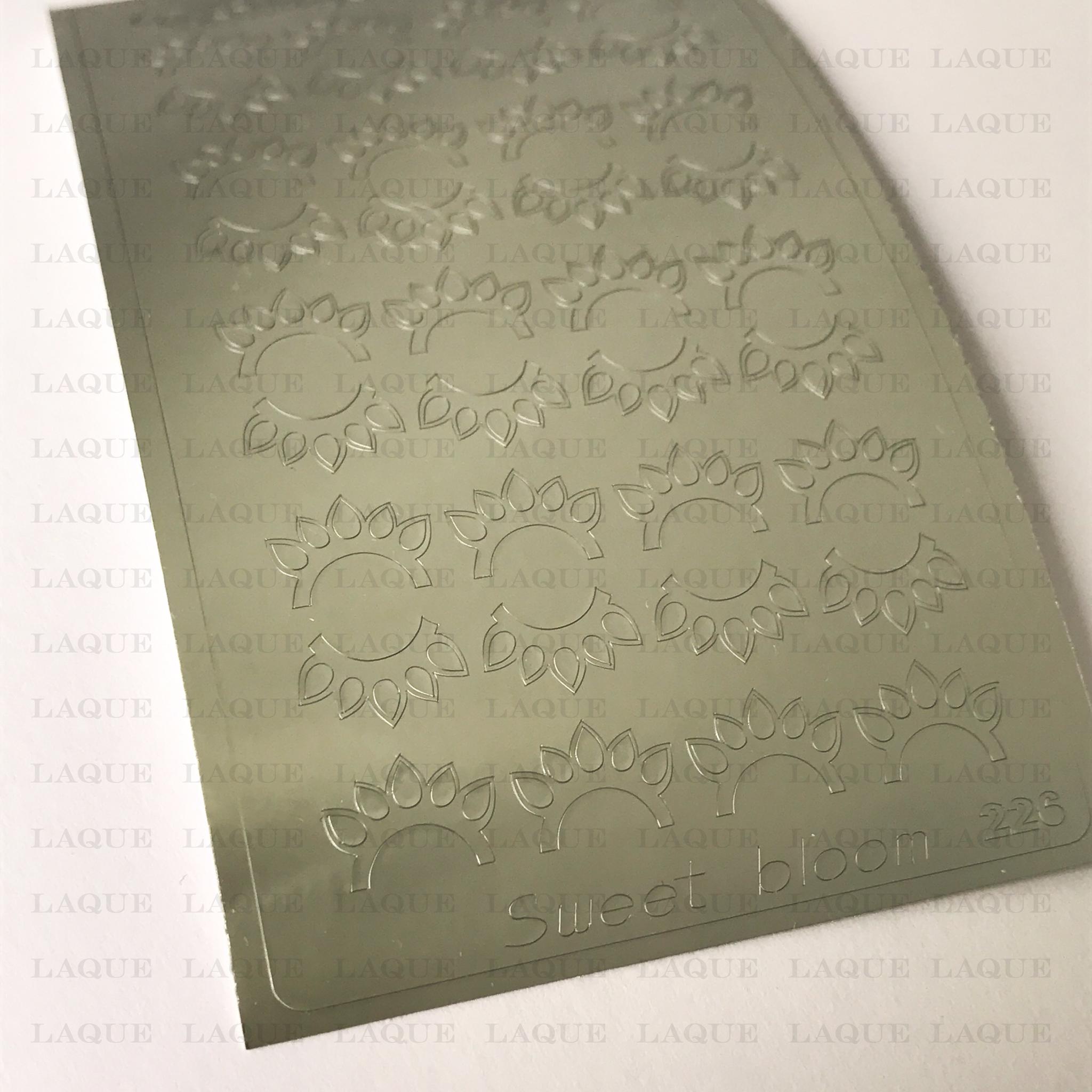 Металлизированные наклейки №226 Silver