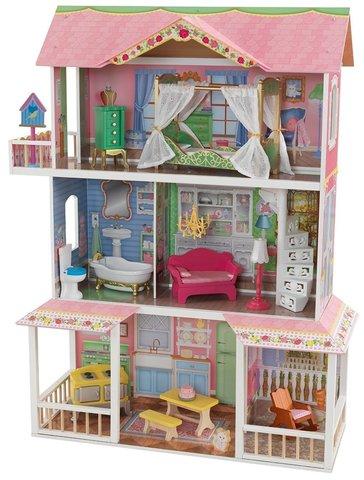 KidKraft Sweet Savannah Карамельная Саванна - кукольный домик с мебелью (в подарочной упаковке) 65935_KE