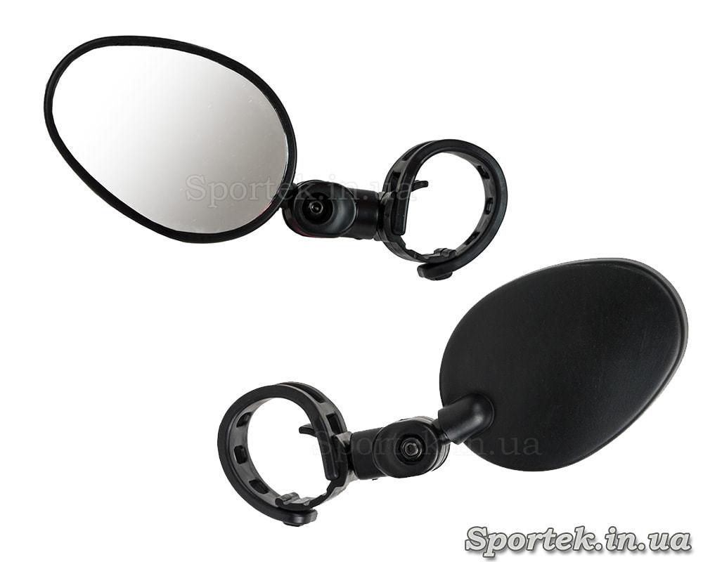 Зеркало заднего вида для велосипеда овальное (75 х 53 мм) на левую или правую сторону руля (стекло)