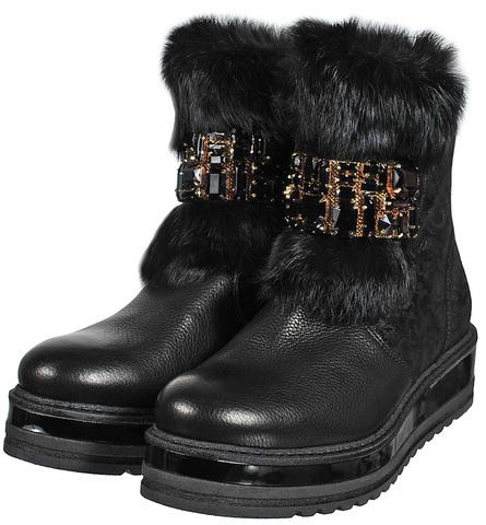 7389M BUFALO/VLOUR NERO ботинки женские  Marzetti