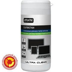 Салфетки ProMega Office  Ultra Clean  в тубе 50шт д/пласт.+50шт д/