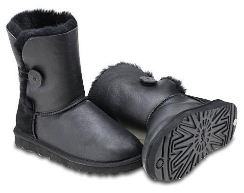 UGG  Button. Цвет:Metallic Black. uggaustralia-msk.ru