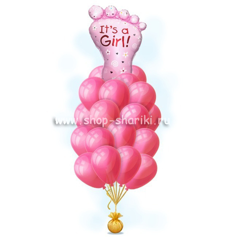 Букет шариков для девочки