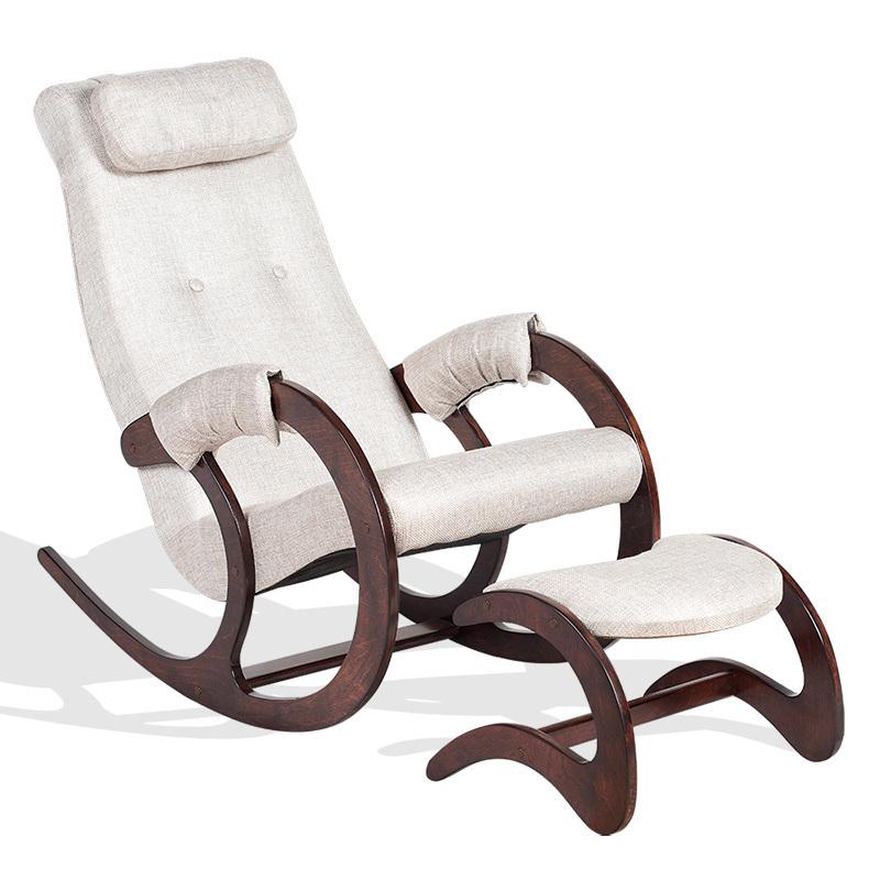 Классические Кресло-качалка Блюз Экоткань с банкеткой bluz-banketka-beige.jpg