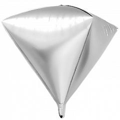Шар (27''/69 см) Алмаз, Серебро, 1 шт.