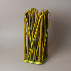 Декоративная ваза из бамбука 8257