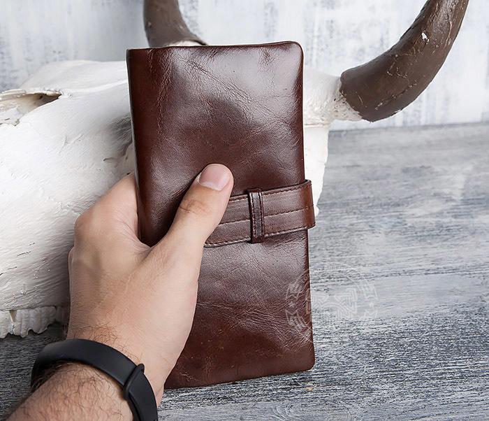 WL270-2 Мужской клатч из кожи винтажного дизайна фото 11