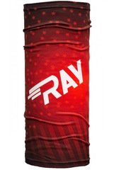 Баф Ray Flag RF Big Snowflake Red Print