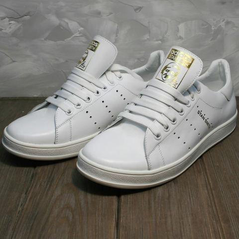 Женские белые кроссовки кеды кожа. Стильные кроссовки Adidas Stan Smith White R