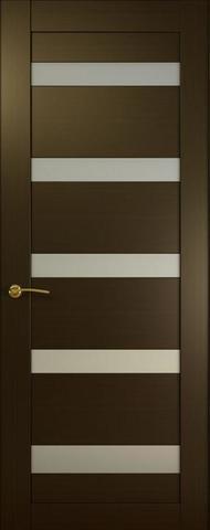 Дверь Океан Ника 1, стекло белое, цвет венге, остекленная