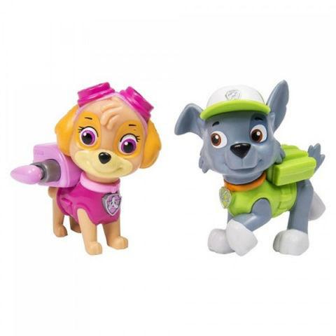 Набор из 2 Фигурок Скай и Рокки (Skye and Rocky) с рюкзаками-трансформерами -  Щенячий Патруль, Spin Master