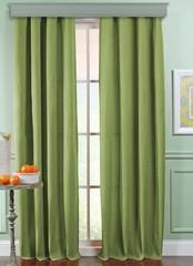 Длинные шторы под  лён Oxford (весенняя зелень)