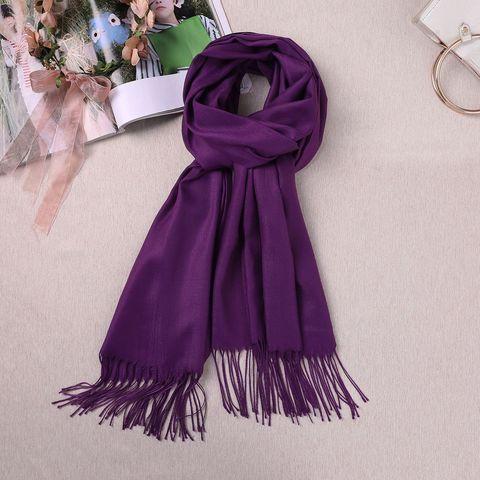 Шарф кашемировый фиолетовый