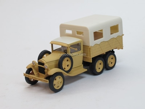 GAZ-AAA Karakum Desert test motor race beige 1:43 Nash Avtoprom