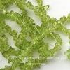 Бусина Перидот, крошка, цвет - зеленый, 3-6 мм, нить 84-86 см