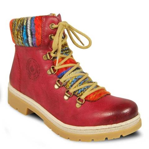 867d0916e Бордовые женские ботинки Rieker 9432-35 сезон зима