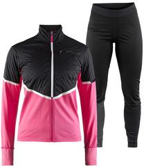 Элитный утепленный костюм для бега Craft Urban Fuseknit Pink-Black женский