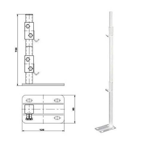 Кронштейн для радиатора напольный ТВЕК.11.9.new (для радиаторов COPA)