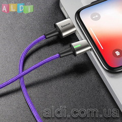 Магнитный кабель Baseus 3A быстрая зарядка + передача данных Lightning Micro USB Type-C (1 коннектор на выбор)