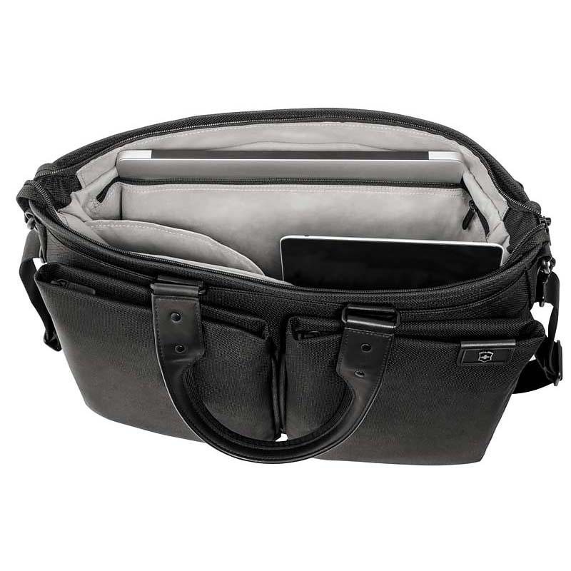 Сумка-портфель Victorinox Satchel 15,6'', черная, 49x18x33 см, 29 л