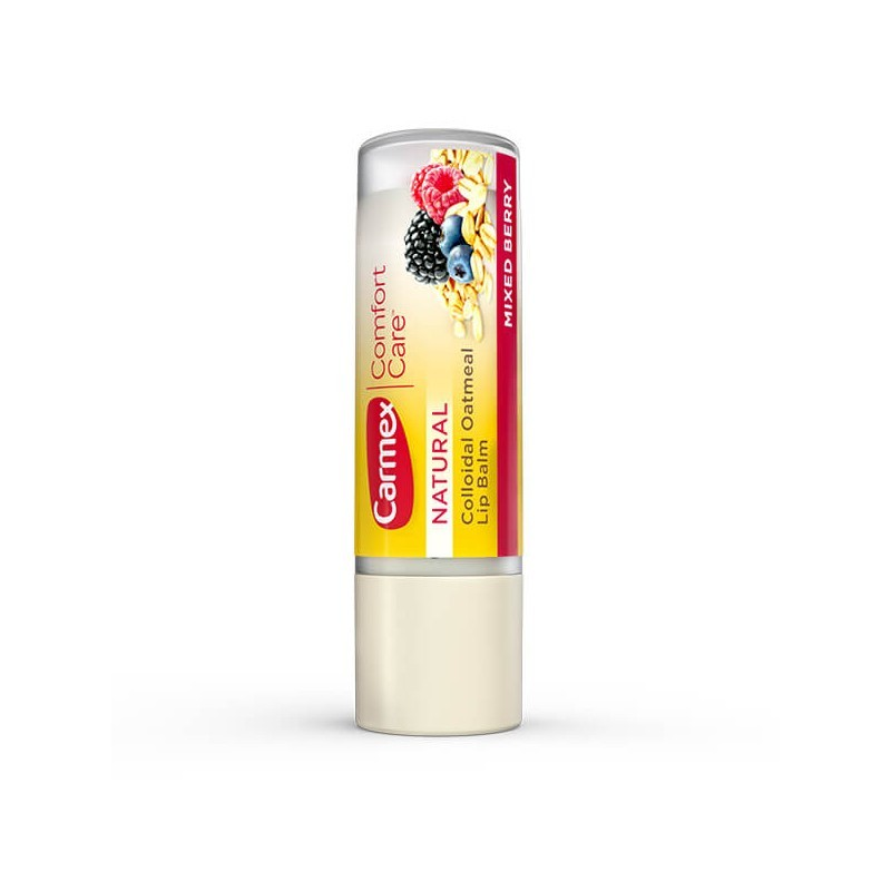 Carmex Бальзам для губ-Ягодный микс Comfort Care Colloidal Oatmeal Lip Balm Mixed Berry Stick 4.25g