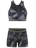 Комплект для бега Craft Lux Black женский - топ, шорты