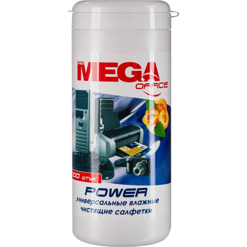 Салфетки ProМEGA Оffice  Power  в тубе Абрикос,100 шт.