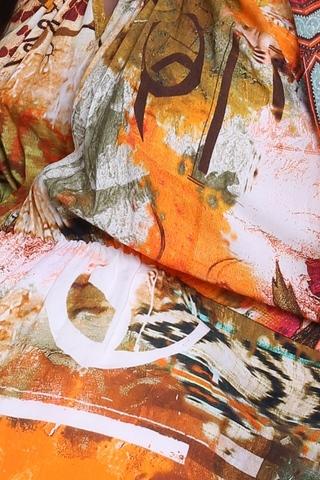 Платье 05583 оранжевый