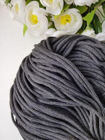 Темно-серый  Хлопковый шнур