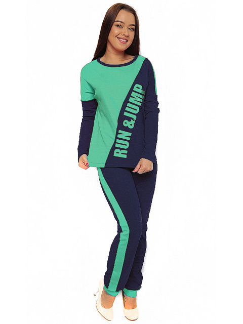 TK418-2 костюм женский, зеленый