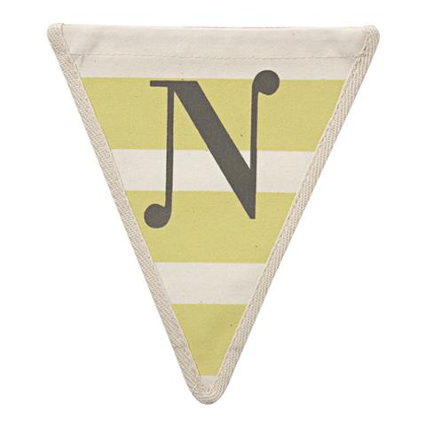 Флажок в желтую полоску N