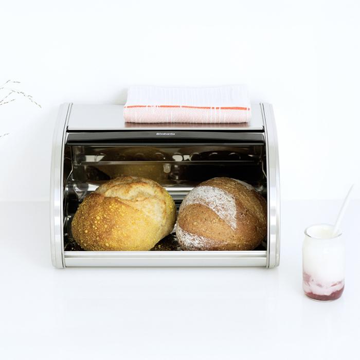 Хлебница со сдвигающейся крышкой (малая), Стальной матовый, арт. 348907 - фото 1