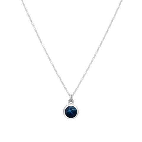 Подвеска ALPHA - Синий звездчатый сапфир