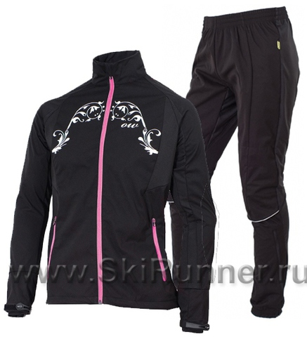 Женский ветрозащитный костюм One Way Julie Gamber black-pink