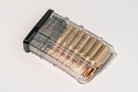 Магазин Pufgun Сайга-308 на 15 патронов, прозрачный