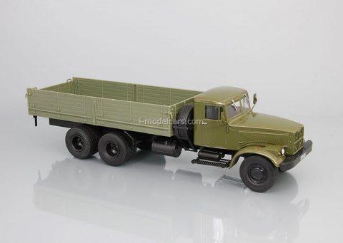 KRAZ-257B1 flatbed truck khaki 1:43 DeAgostini Auto Legends USSR Trucks #30