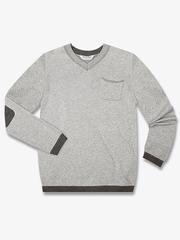 BSW000817 пуловер детский, серый меланж