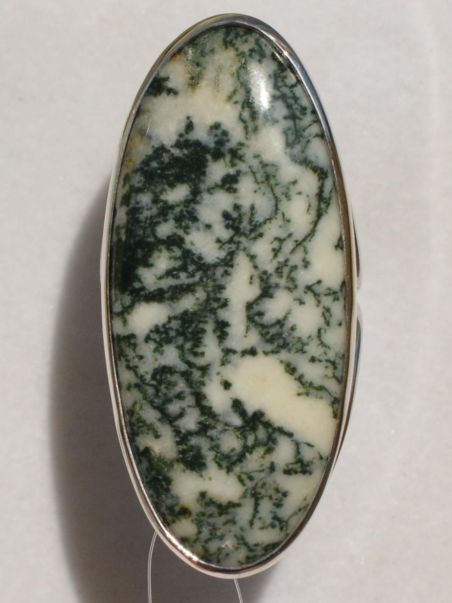 Агат кабошон (кольцо из серебра)