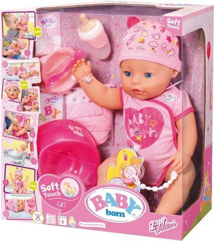 Baby born Бэби Борн Кукла Интерактивная Soft Touch Girl 825938