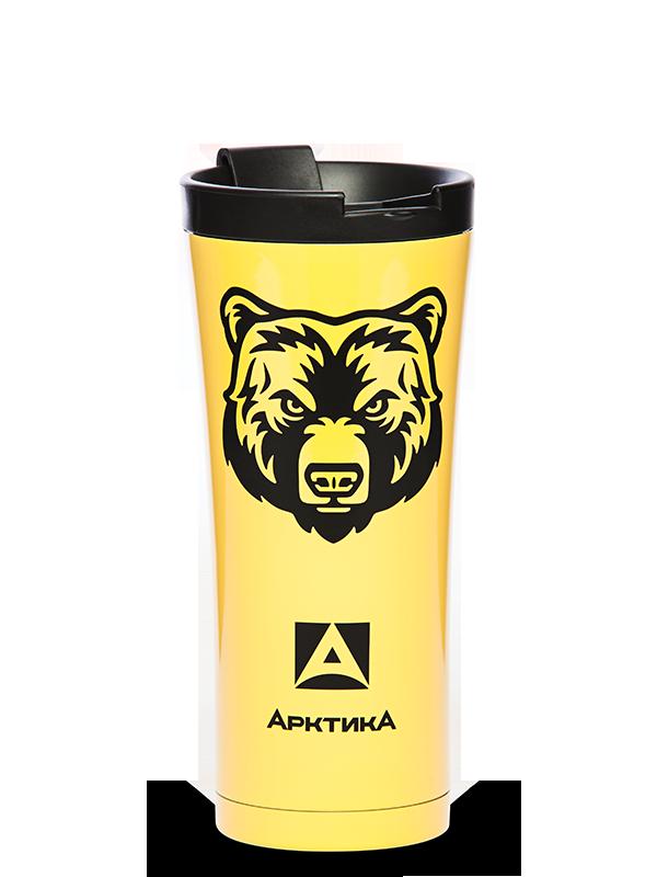 Термокружка Арктика (0,5 литра), медведь, желтый