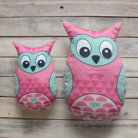 Игрушка Подушка Pink Owl Розовая Сова