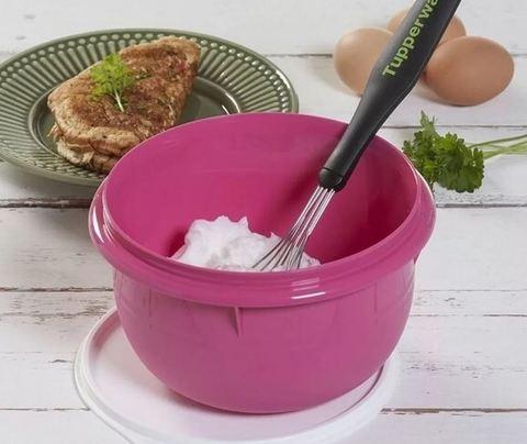 замесочное блюдо 2л в розовом цвете