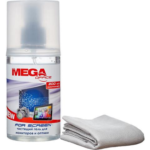 Гель для чистки оргтехники ProМEGA Оffice для экранов 200мл.+салфетка 18х18