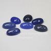 Кабошон овальный Агат сине-голубой (тониров), 14х10 мм