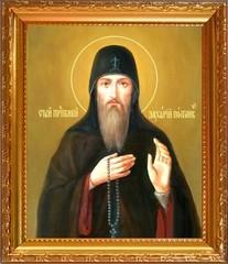Захария Постник Печерский преподобный. Икона на холсте.
