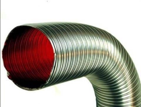 Газоход гофрированный d 115 мм (2м) из нержавеющей стали